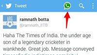 Twitter: Spezieller WhatsApp-Button in Testversion der App gesichtet