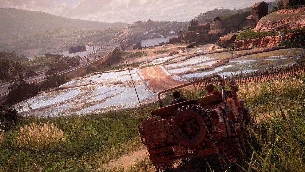 Uncharted 4: Als fahrbares Vehikel spielt der Jeep eine große Rolle.