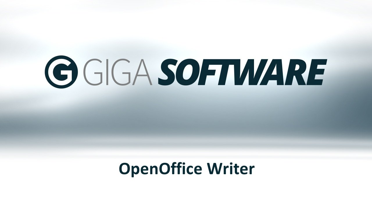 Openoffice Writer Das Kostenlose Schreibprogramm Giga