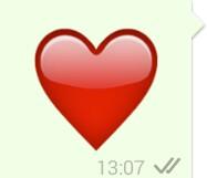 pulsierendes herz whatsapp
