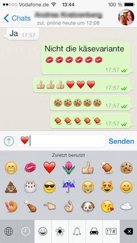 Herz zeichen whatsapp