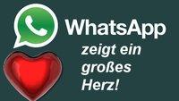WhatsApp zeigt ein großes Herz - warum?