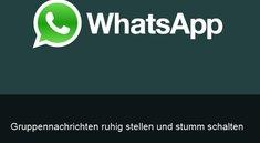 WhatsApp Gruppen stummschalten auf iPhone und Android