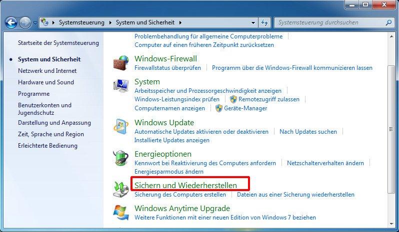 Windows 7 ohne CD auf Werkseinstellungen zurücksetzen - so