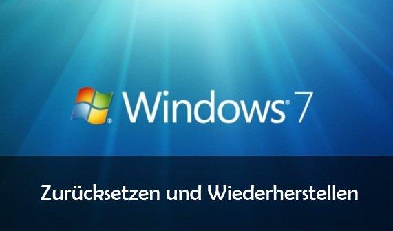 Windows 7 zurücksetzen auf Werkseinstellungen - auch ohne CD