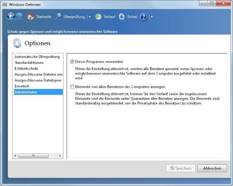 Mit einem Klick können wir den Windows Defender abschalten, statt ihn zu deinstallieren