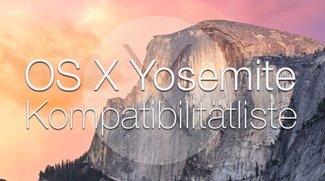 OS X 10.10 Yosemite Kompatibilität: Systemvoraussetzungen