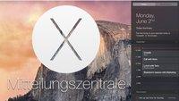 OS X 10.10 Yosemite: Mitteilungszentrale im Detail (Notification Center)