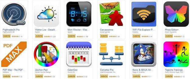 Amazon: 29 Android-Apps und -Games im Wert von 100 Euro bis morgen kostenlos