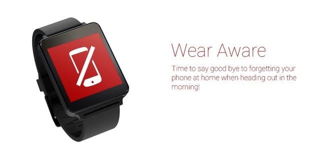 Android Wear-Tools: Smartphone per Phone Finder wiederfinden, Alarm bei Verbindungsverlust mit Wear Aware