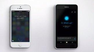 Siri vs. Cortana: Microsoft-Spot lässt Apple-Assistenten alt aussehen