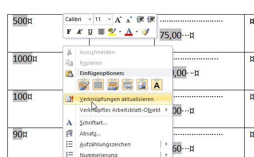 Eine Excel Tabelle in Word einfügen – Ganz einfach! – GIGA