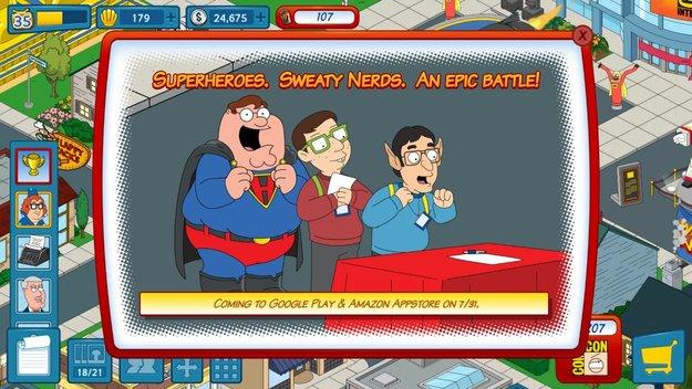 Family Guy goes Comic-Con: Großes Update für Mission Sachensuche