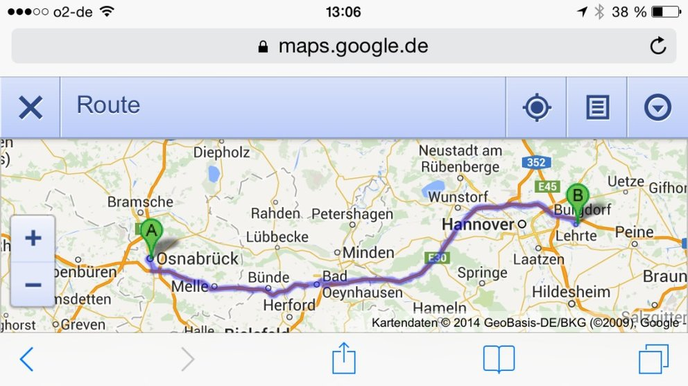 Google-Maps-Route-Browser