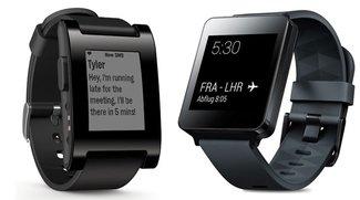 Android Wear vs. Pebble: Smartwatch-Plattformen im Vergleich