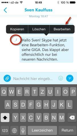 Skype-iPhone-bearbeiten