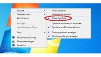 Desktop-Symbole verkleinern unter Windows 7 - Anleitung