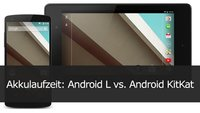 Akku-Vergleich: Android L vs. Android KitKat