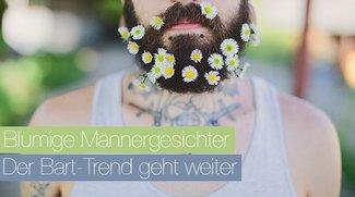 Blumige Männergesichter – Der Bart-Trend geht weiter