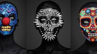 """Make-up Kunst aus Perlen, Spikes oder Blumen – """"los Muertos"""""""