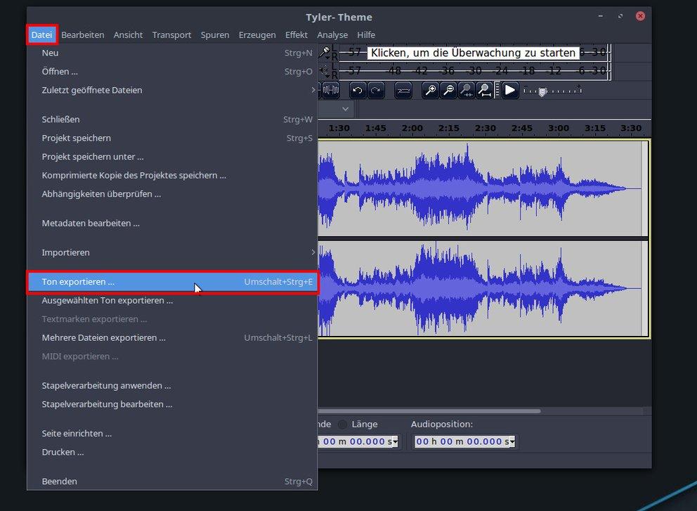 Audacity konvertiert FLAC- in MP3-Dateien. Bild: GIGA