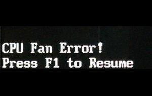CPU Fan Error: Lösungen für die Fehlermeldung