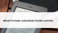 Diese eBook-Formate beherrschen Kindle, Tolino und iPad