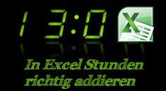 Stunden addieren in Excel - So geht's
