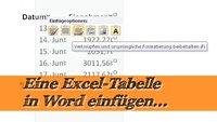 Eine Excel Tabelle in Word einfügen - Ganz einfach!
