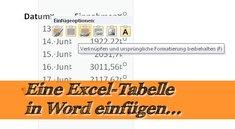 Excel: Tabelle in Word einfügen - so geht's!