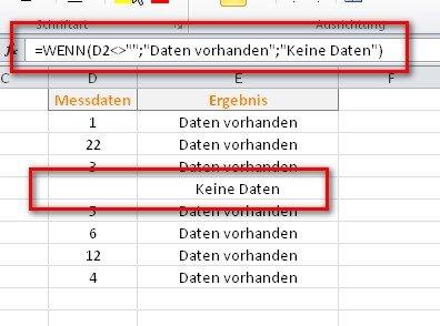 In Excel liegen UNGLEICH und GLEICH nahe beieinander