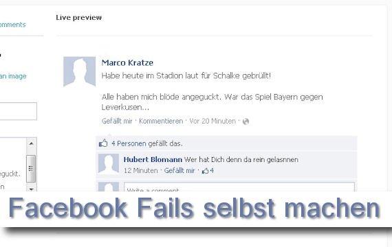 Die coolsten Facebook Fail Postings -selbstgemacht!