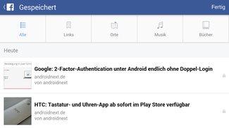 Facebook: Save-Feature speichert Links, Musik, Bücher und mehr für später