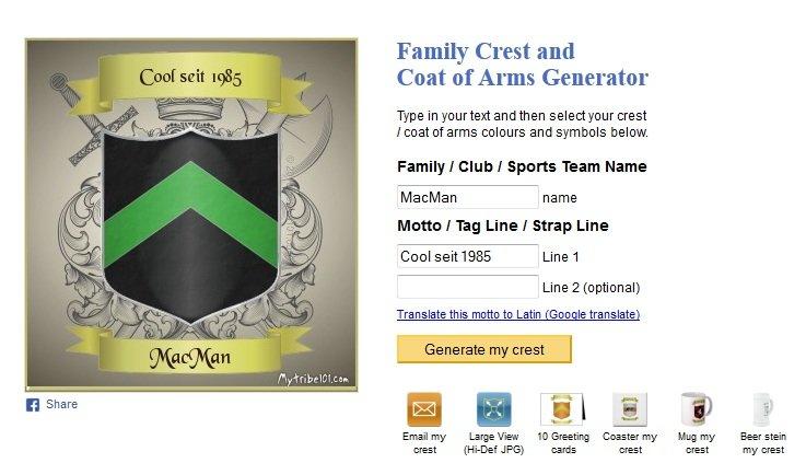 family-crest-generator