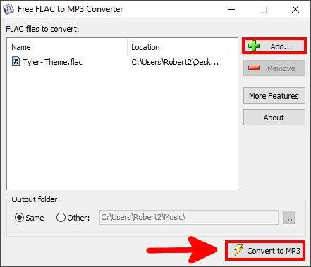 Fügt eure FLAC-Dateien hinzu und klickt unten auf den Button. Bild: GIGA