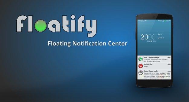 Floatify: Benachrichtigungen à la Android L mit vielen Einstellungsmöglichkeiten