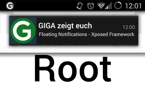 Floating Notifications: Mit Xposed Framework (Root)