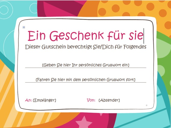 Gutschein Vorlage Word Download Giga