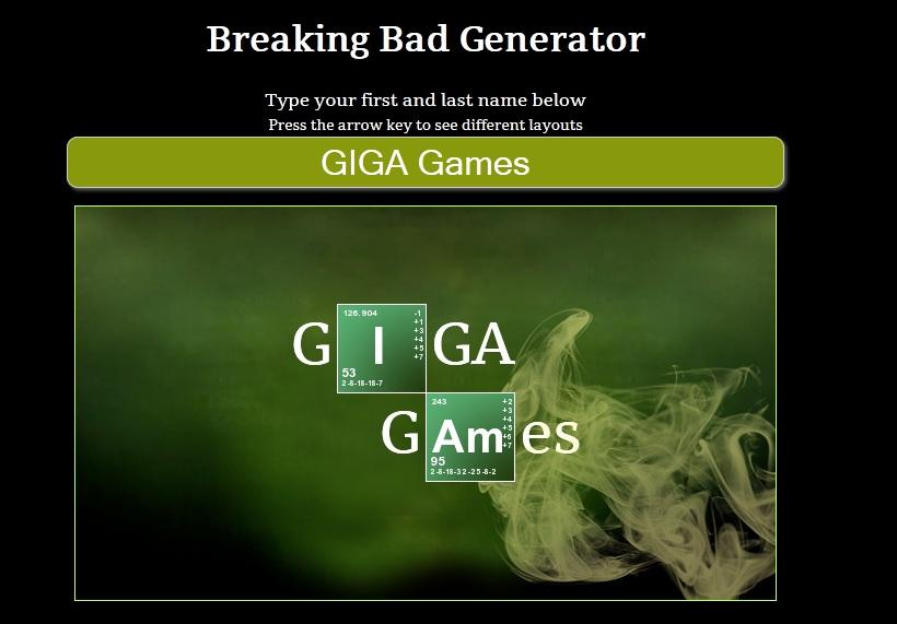 Giga Games Breaking Bad