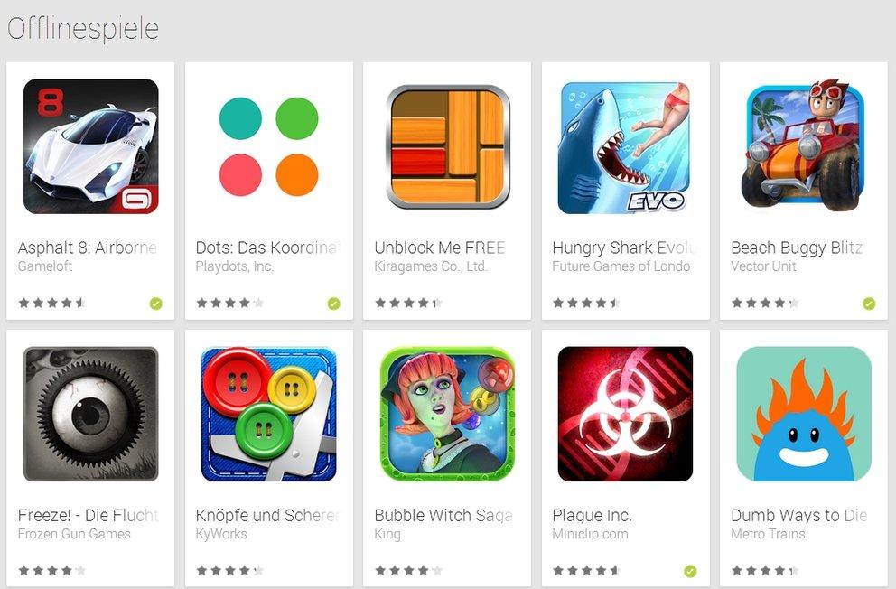 Google Offline Spiel