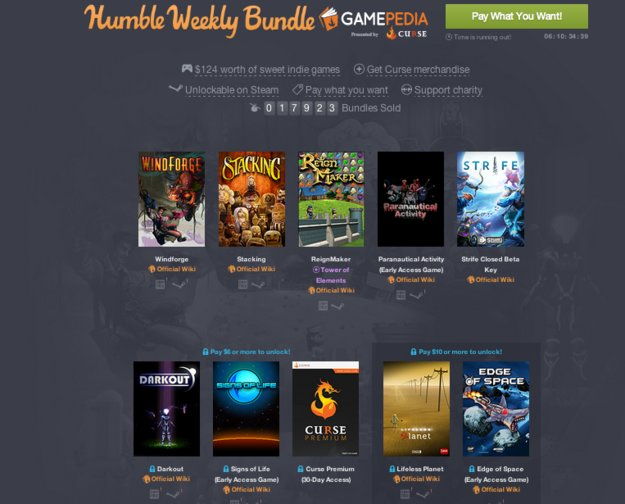 Humble Weekly Bundle: Gamepedia & Curse bringen euch Indie-Titel