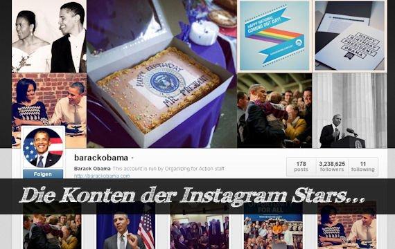 Stars auf Instagram: Die interessantesten Adressen