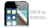 iOS 8 vs. Android L (5.0): Designvergleich