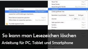 Lesezeichen löschen bei Safari, Firefox, IE, Chrome – in PC, Android und iOS