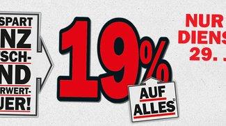 Media Markt: Bis Dienstag 19 Prozent Rabatt auf alle Artikel [Deal]