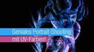 Geniales Portrait-Shooting mit UV-Farben!