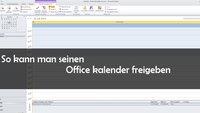 Outlook: Kalender freigeben - so geht's
