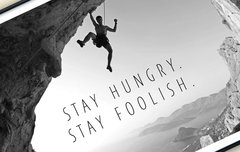 50% Rabatt auf Apple-Poster: Stay hungry. Stay foolish.
