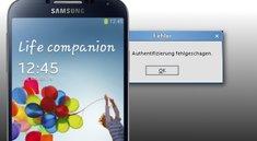 """Samsung Galaxy S4: """"Authentifizierung fehlgeschlagen"""" - Wifi-Problem gelöst"""