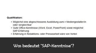 """""""SAP Kenntnisse"""" im Lebenslauf: Bedeutung und Definition"""